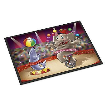 Circus Elephand en Dolphin Indoor of Outdoor Mat 18 x 27