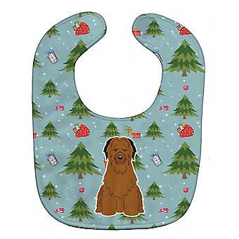 Carolines Treasures  BB4742BIB Christmas Briard Brown Baby Bib