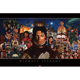 Michael Jackson der King of Pop Poster drucken von Kadir Nelson (36 x 24)