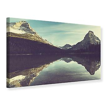 Canvas Print Reflection In Mountain Lake