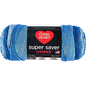 Rood hart Super Saver Ombre garen-True Blue E305-3962