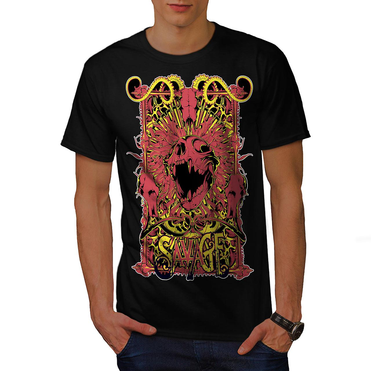 Savage Monster Art Horror Men Black T-shirt | Wellcoda