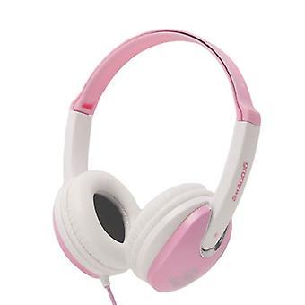 Groov-e Kidz-DJ stijl Headphone - roze/wit (GV590PW)