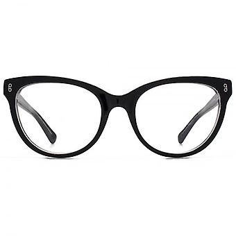 Hook LDN Wander Chunky Cateye Glasses In Crystal Brown