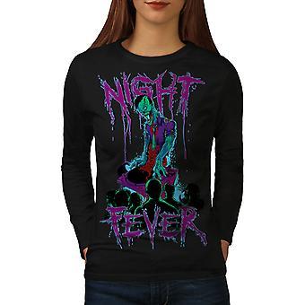 Night Fever Dead Women BlackLong Sleeve T-shirt | Wellcoda