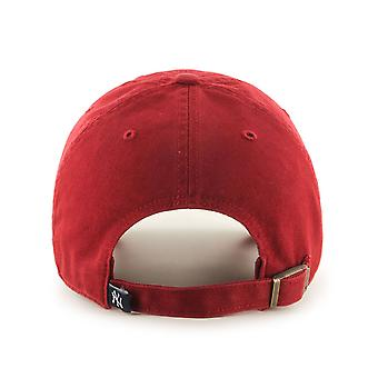 47 Brand MLB NY Yankees Clean Up Cap - Razor Red