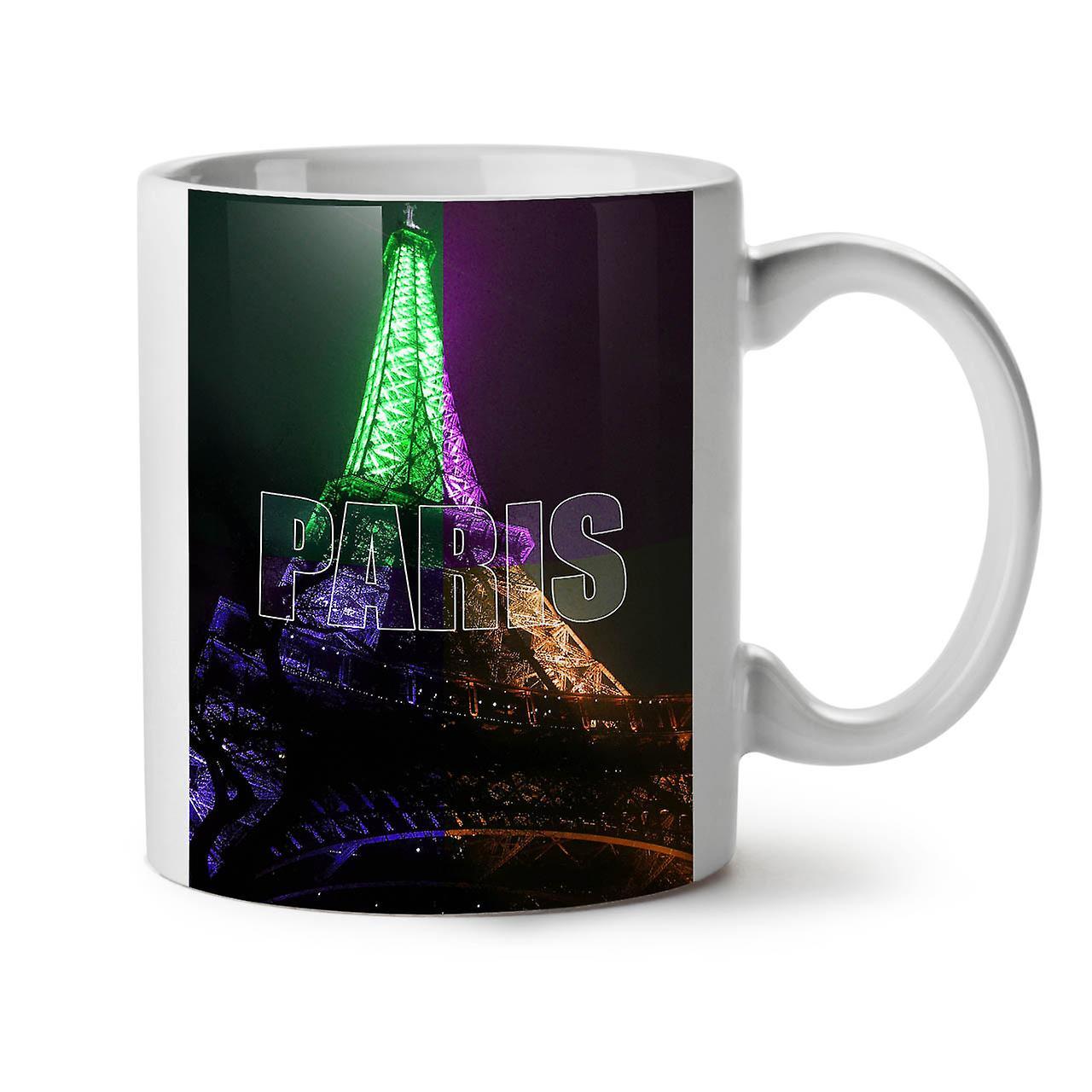 Nouveau Tasse Céramique Thé Blanc Paris Nuit Photo OzWellcoda Café 11 bf7y6g
