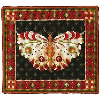 White Butterfly Needlepoint Canvas