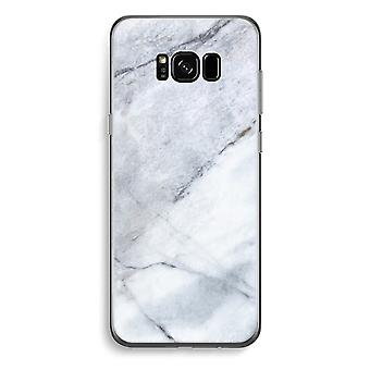 Samsung Galaxy S8 pluss gjennomsiktig sak (myk) - marmor hvit