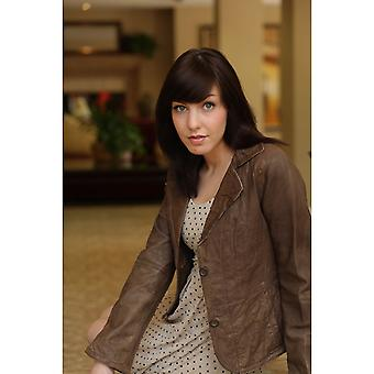 Crumbled Marion Womens Leather Jacket