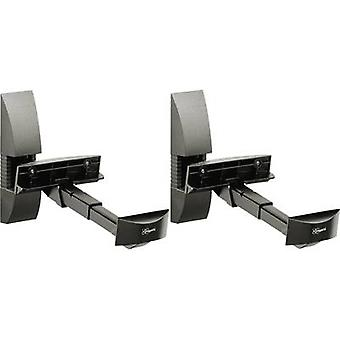 Speaker wall mount Tiltable, Swivelling Distance to wall (max.): 30 cm