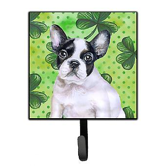 French Bulldog Black White St Patrick's Leash or Key Holder