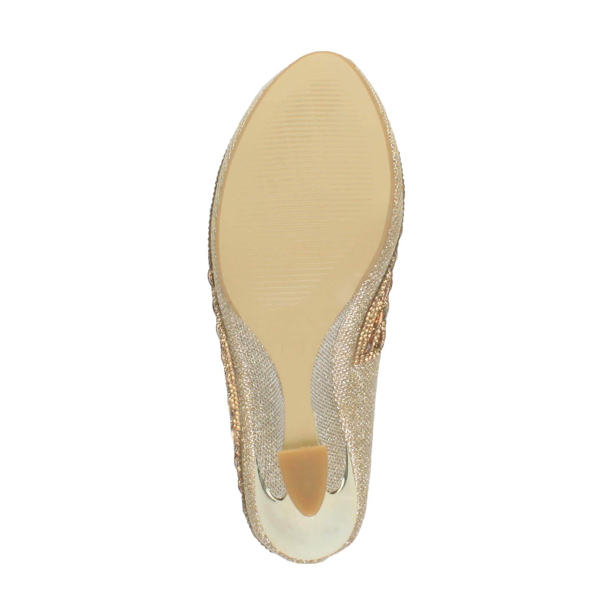 Ajvani donna mid heel wedge wedge wedge platform diamante evening bridal wedding prom court scarpe pumps | prezzo di sconto speciale  | Gentiluomo/Signora Scarpa  e25b05