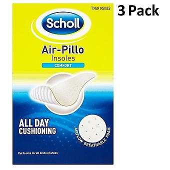 3 X Scholl Air-Pillo Insoles - Comfort - All Day Cushioning - Unisex