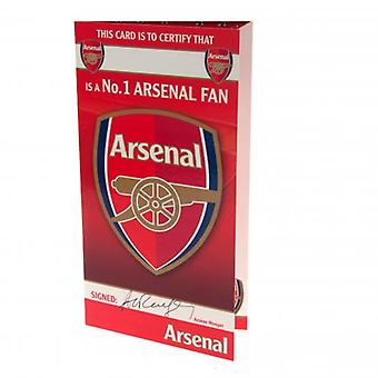Arsenal cumpleaños tarjeta No 1 ventilador