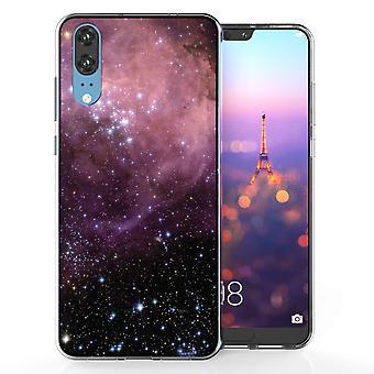 Huawei P20 фиолетовый и черный созвездие ТПУ геля дело