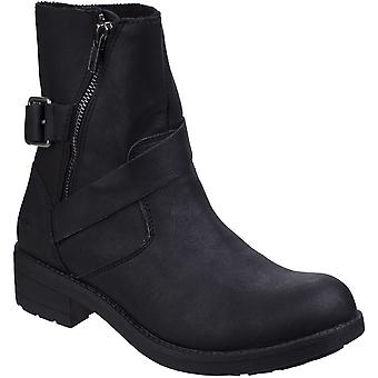 Rocket Dog Womens/Ladies Tour Zip Up Mid Height Durable Biker Boots