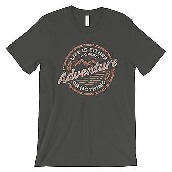 Adventure Or Nothing Mens Cool Grey Inspiring T-Shirt