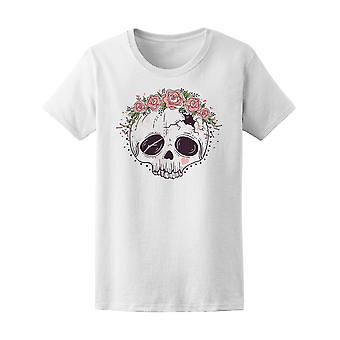 Sugar Skull Tattoo Style Tee Women's -Image by Shutterstock