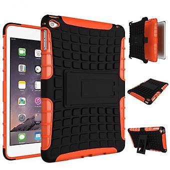 Buiten beschermhoes Case oranje van de Hybrid case voor de iPad Mini 4 7,9 inch geval
