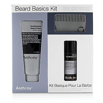 Anthony Beard grundlæggende Kit: 1 x Conditioning skæg vask 177ml 1 x barbering + Conditioning skæg olie 59 ml 1 x skæg kam - 3stk