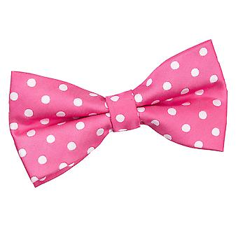 Hot Pink Polka Dot Pre-Tied Bow Tie