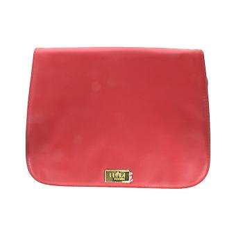 Fan Di Fendi L'Acquarossa Red Black Faux Leather Trousse Pouch (9