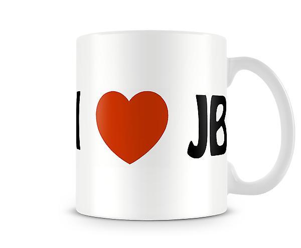 Ich liebe JB bedruckte Becher