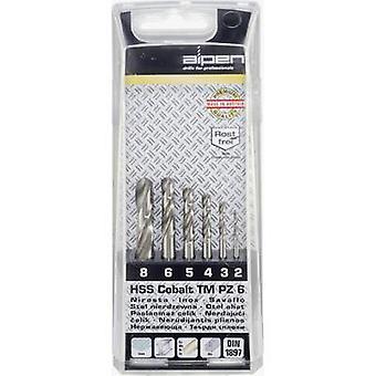 Broca de Metal de HSS-E giro set 6 piezas Alpen 100