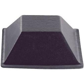 Pie de BS-19-CL-R-7 de PB sujetador auto-adhesivo, cuadrado claro (W x H) 20,6 7,6 mm x 7 PC