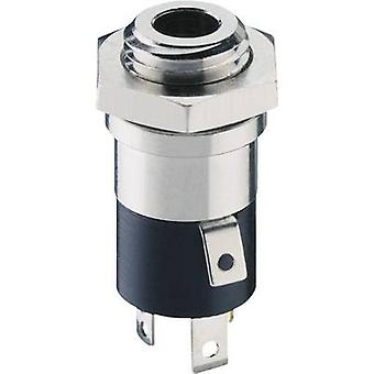 3.5 mm audio jack Socket, vertical vertical Number of pins: 4 Stereo Silver Lumberg 1502 02 1 pc(s)