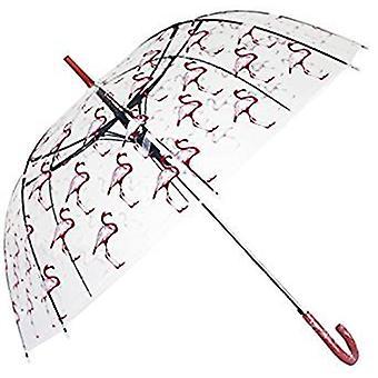 Straight Clear Umbrella (Flamingo)