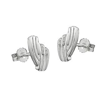 Elegant earrings silver with cubic zirconia Silver earrings 925 sterling silver