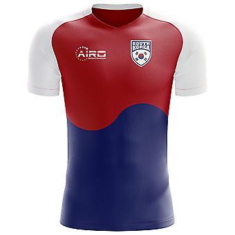 2018-2019 كوريا الجنوبية العلم مفهوم كرة القدم قميص