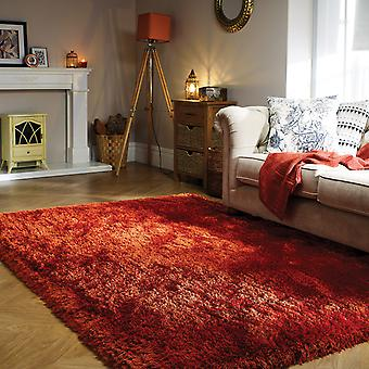 Pearl Shaggy Rugs In Rust
