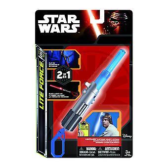Star Wars clip on lightsaber Luke multicolor, plastic, with LED light, in gift packaging.