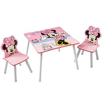 Wooden table and 2 Chairs Disney Minnie