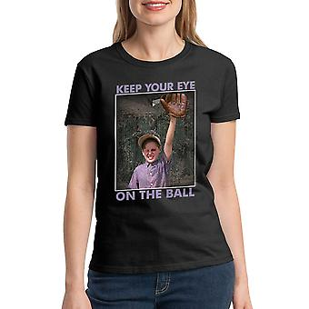 The Sandlot Keep Your Eye On The Ball Graphic Women's Black T-shirt