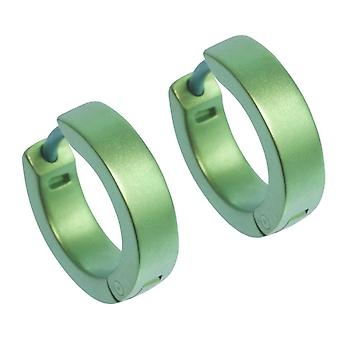 Ti2 Titanium Flat hoepel Cuff oorbellen - vers groen
