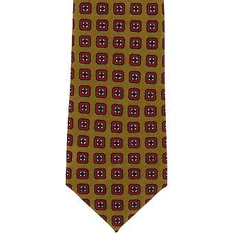 Michelsons Londyn schludny wełna krawat - musztarda