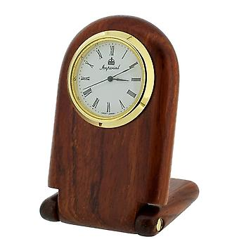 Gift Time Products Folding Desk Clock - Dark Brown