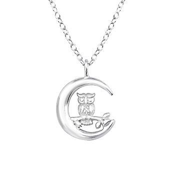Ugle - 925 Sterling Sølv Plain halskæder - W36724X
