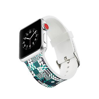 Siliconen klockrem voor Apple Watch 4 3/2/1-44 mm, 42 mm-geometrische