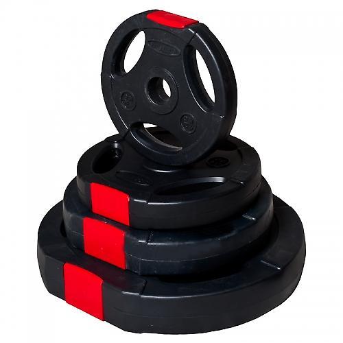 Poids disque en plastique de 10 kg avec poign�es