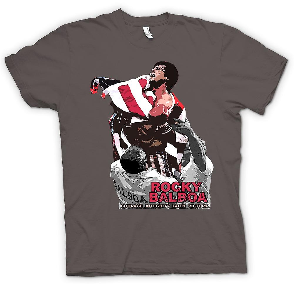 Womens T-shirt - Rocky Balboa - Courage - Boxing Movie