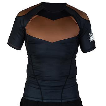 Hyperfly ProComp Supreme Short Sleeve Rash Guard Black/Brown