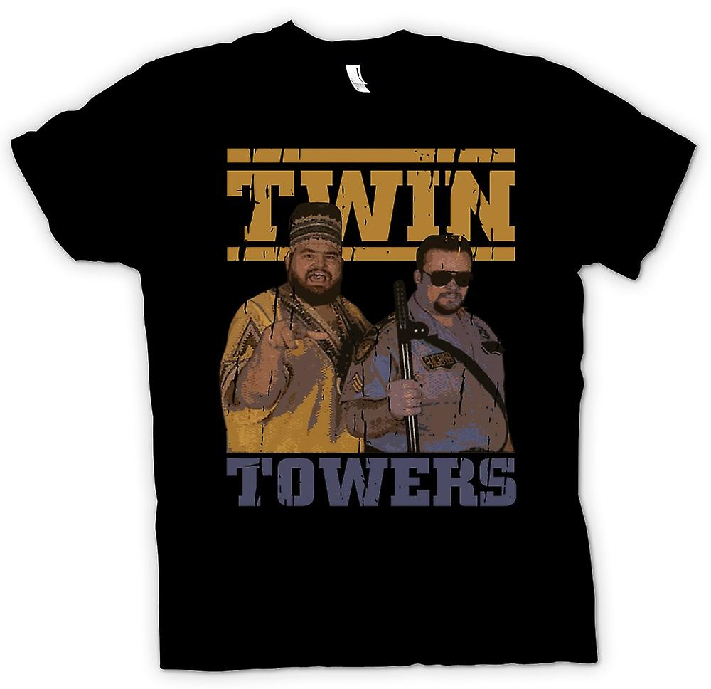 Mens t-shirt-The Twin Towers - lottatori - Big Boss man e Akeem