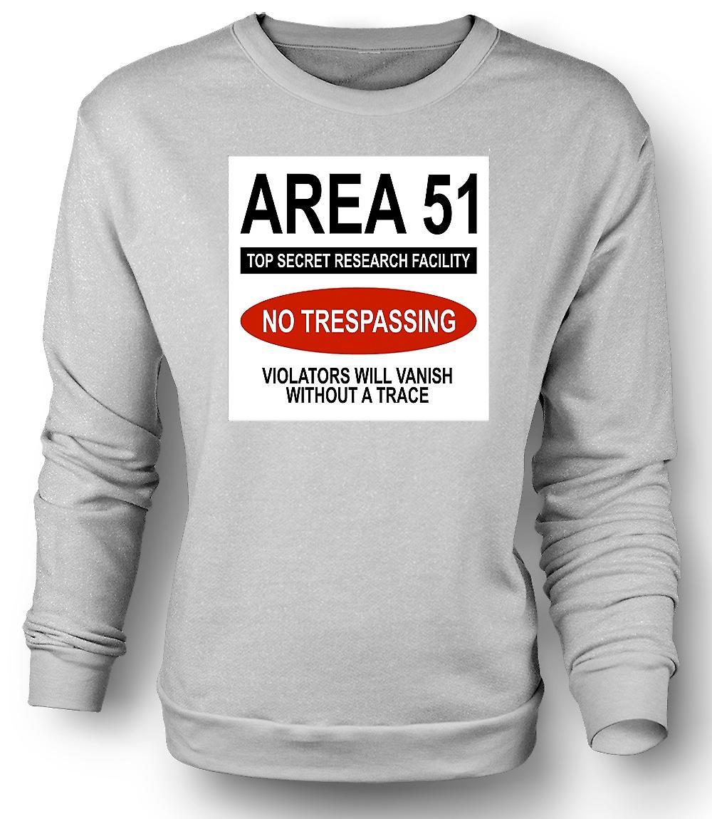 Sudadera para hombre área 51 - UFO - intruso se desvanecerá