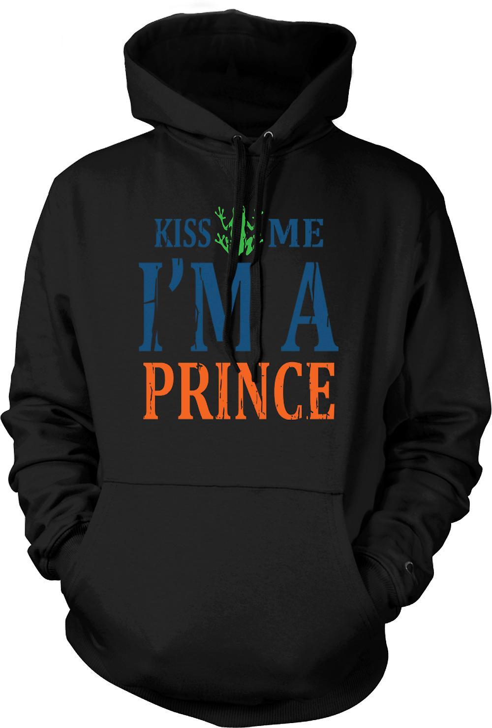 Felpa con cappuccio uomo - Kiss Me Im A Prince - divertente