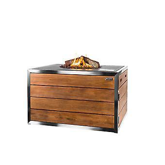 Happy Cocooning rustfrit stål udendørs pejs 110x80xH67 rektangel, 5 cm-antracit